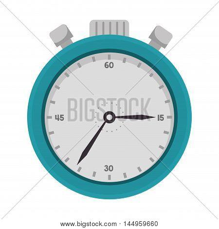 chronometer icon design count time instrument vector illustration