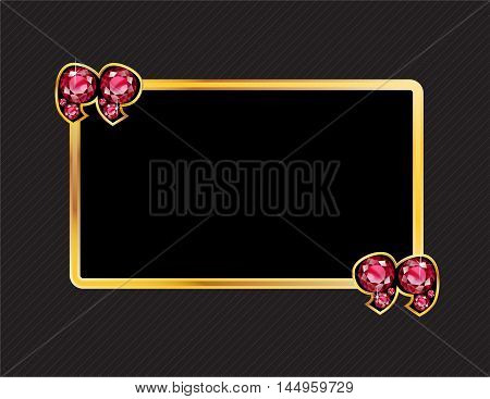 Ruby Quotes on Gold Metal Speech Bubble over Pinstripe Background