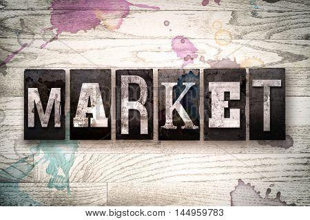Market Concept Metal Letterpress Type