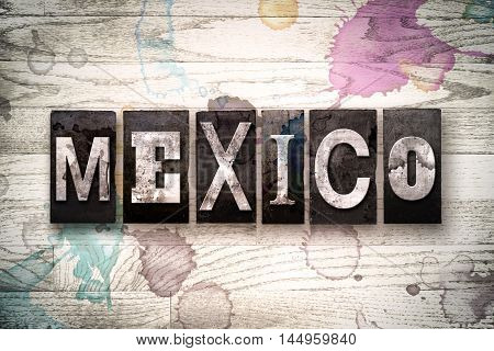 Mexico Concept Metal Letterpress Type