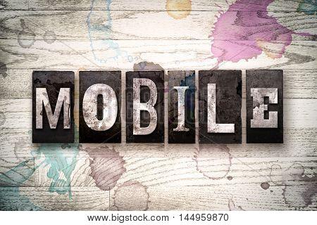 Mobile Concept Metal Letterpress Type