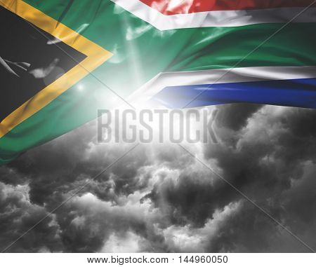 South Africa flag on a bad day