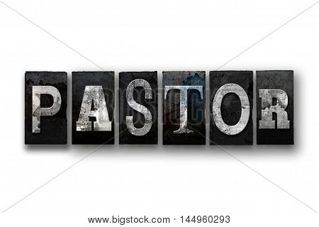 Pastor Concept Isolated Letterpress Type