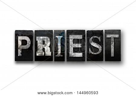Priest Concept Isolated Letterpress Type