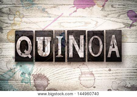 Quinoa Concept Metal Letterpress Type