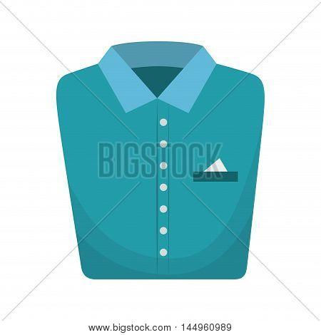 blue shirt folded elegant clothes laundry clothing vector illustration