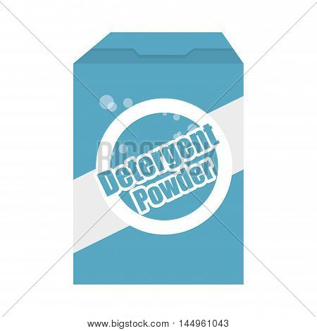 detergent powder box cleaner product laundry equipment vector illustration