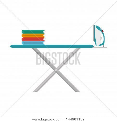 ironing board clothes laundry equipment domestic housework vector illustration