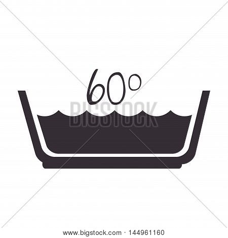 water temperature washing by machine or  hands laundry symbol vector illustration