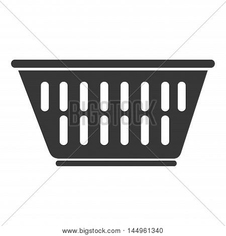 laundry clothes basket container stacked domestic housework  vector illustration