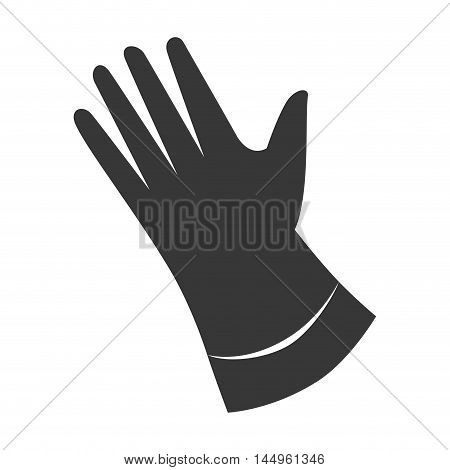 wash hand gloves laundry cleaner domestic housework activity vector illustration