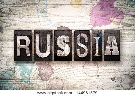 Russia Concept Metal Letterpress Type