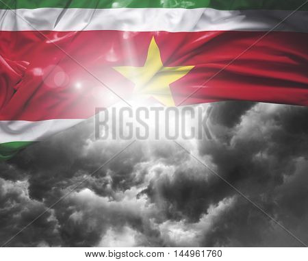Suriname flag on a bad day