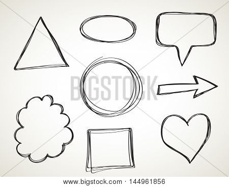 Vector doodle elements - Sketch