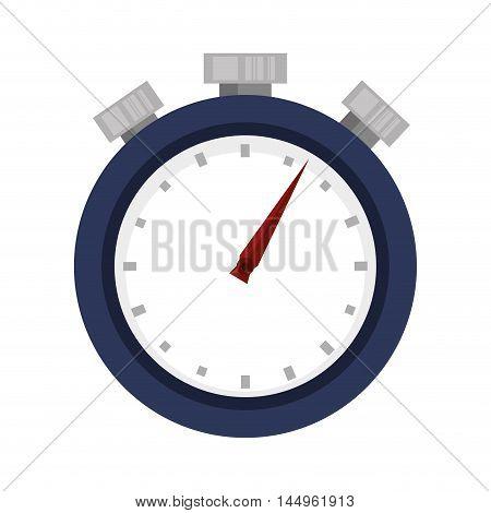 chronometer time counter clock device sport training vector illustration