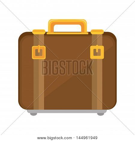 suitcase bag leather accessory luggage handbag travel vector illustration