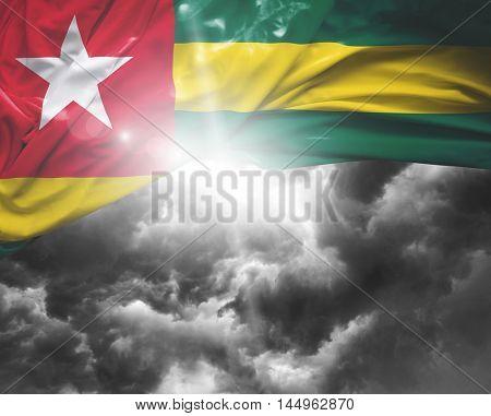 Togo flag on a bad day