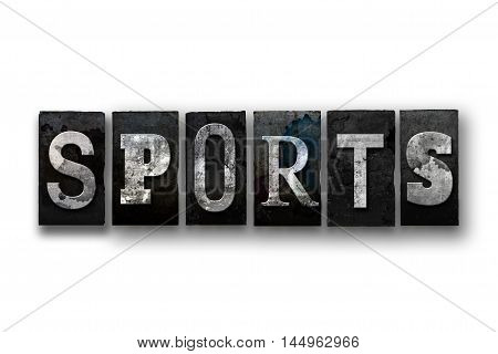 Sports Concept Isolated Letterpress Type