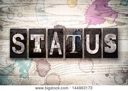 Status Concept Metal Letterpress Type