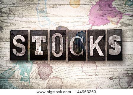 Stocks Concept Metal Letterpress Type