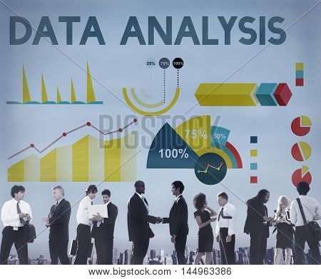 Data Analysis Percentage Business Chart Concept