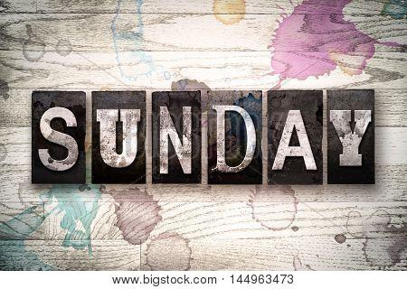 Sunday Concept Metal Letterpress Type
