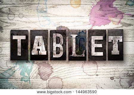 Tablet Concept Metal Letterpress Type