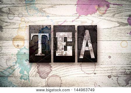 Tea Concept Metal Letterpress Type