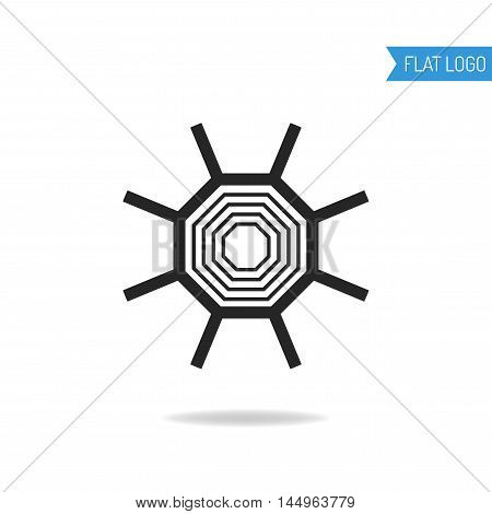 Business, technical and engineering logo for company. Geometric logotype. Vector illustration