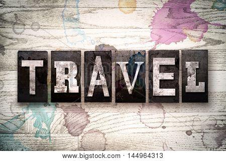 Travel Concept Metal Letterpress Type