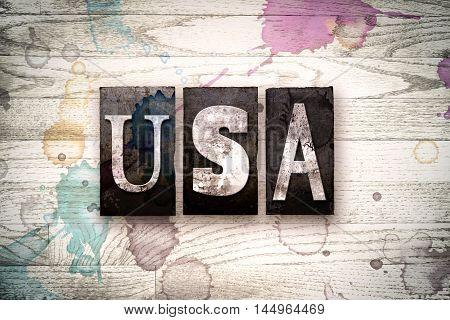 Usa Concept Metal Letterpress Type