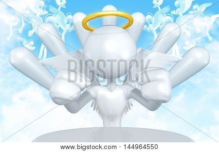 Angel Character 3D Illustration