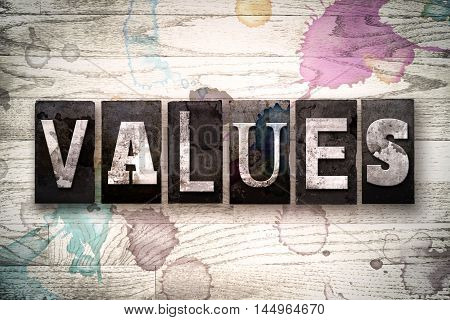 Values Concept Metal Letterpress Type