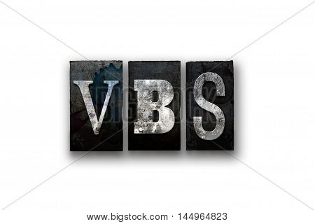 Vbs Concept Isolated Letterpress Type