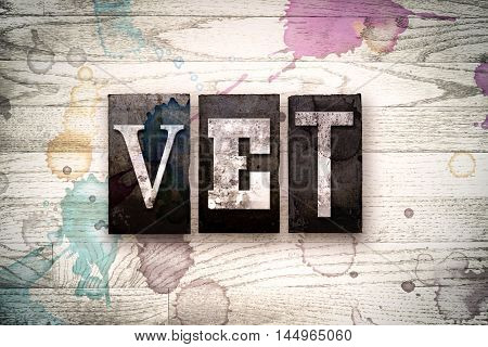 Vet Concept Metal Letterpress Type