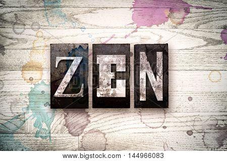 Zen Concept Metal Letterpress Type