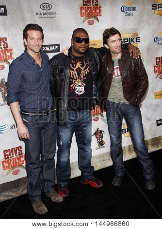 Bradley Cooper, Sharlton Copley and Quinton Jackson at the 2010 Guys Choice Awards held at the Sony Pictures Studios in Culver City, USA on June 5, 2010.