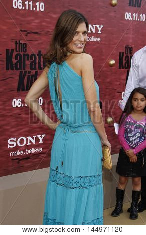Perrey Reeves at the Los Angeles premiere of 'The Karate Kid' held at the Mann Village Theater in Westwood, USA on June 7, 2010.
