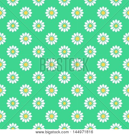 Floral background - pattern for continuous replicate. Green image.