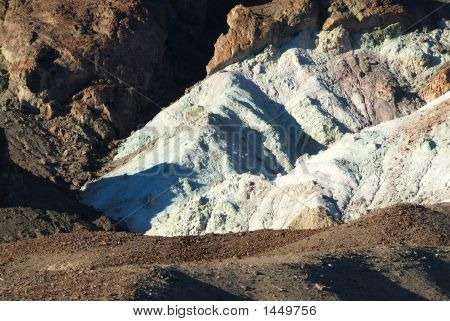 The Variegated Slopes Of Artists Palette In Death Valley, California