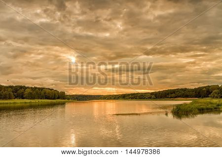 River In Evening
