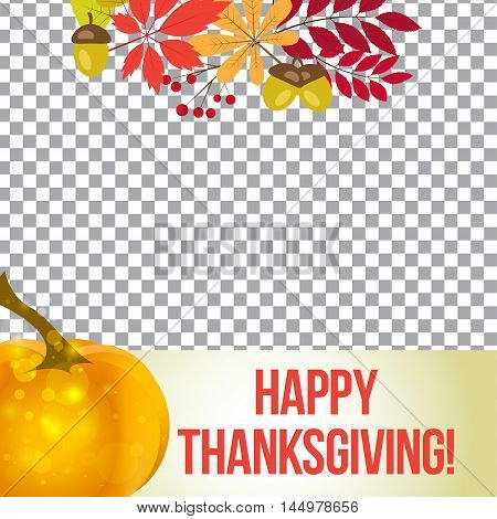 vector photo frame for thanksgiving. autumn template for social media.