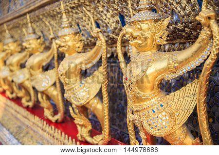 Statue Garuda in Wat Phra Kaew at Bangkok Thailand