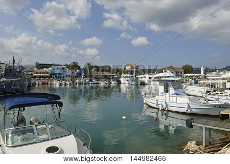 Boats in Latchi Harbour, Akamas, West Cyprus