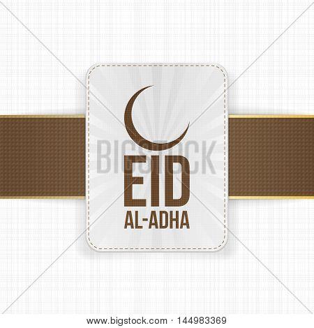 Eid al-Adha greeting muslim Label. Vector Illustration