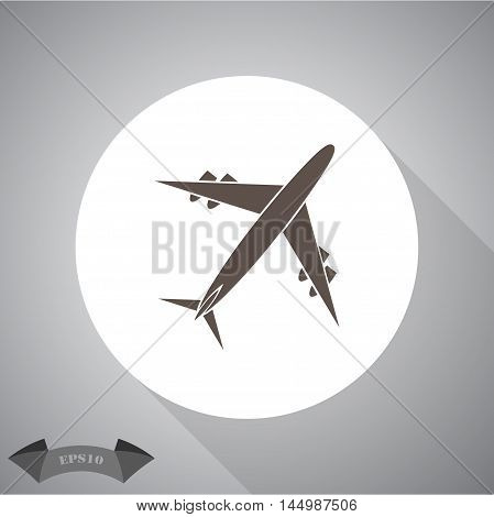 aircraft Vector icon for web and mobile.