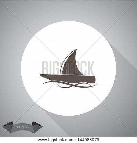 Yacht vector  Vector icon for web and mobile.