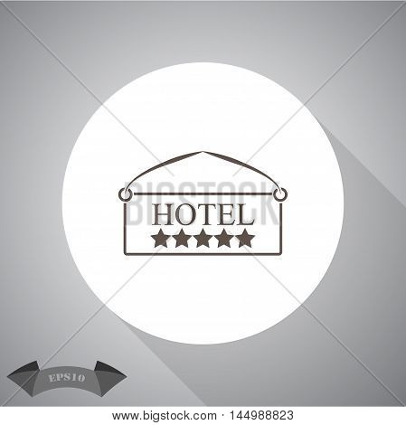 Plate hotel  Vector icon for web and mobile.