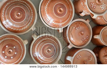 picture of a market sale of a pottery in macedonia