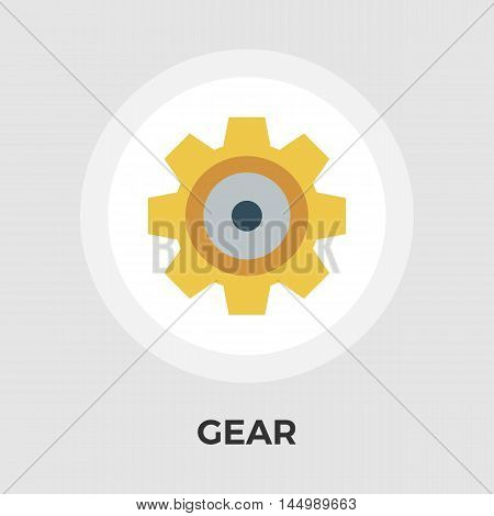 Gear Icon Vector. Flat icon isolated on the white background. Editable EPS file. Vector illustration.